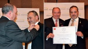CALZADOS FAL receives the Medal for Merit at Work given by the European Association of Economy and Competitiveness
