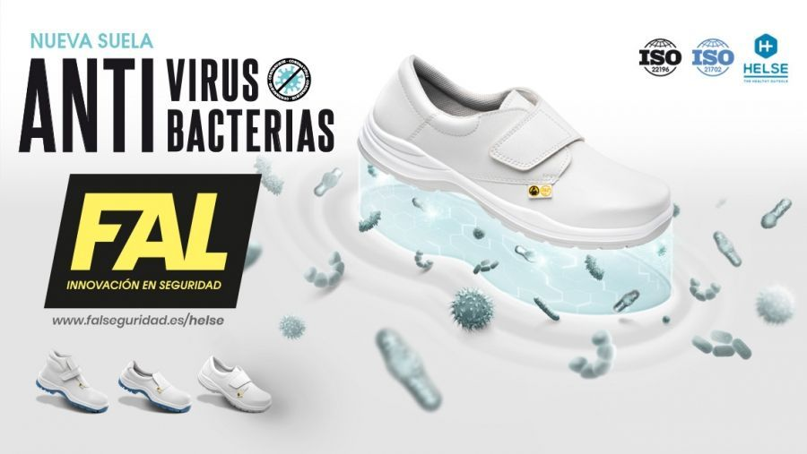 FAL SEGURIDAD has now started using HELSE: the new sole that offers protection against viruses and bacteria.